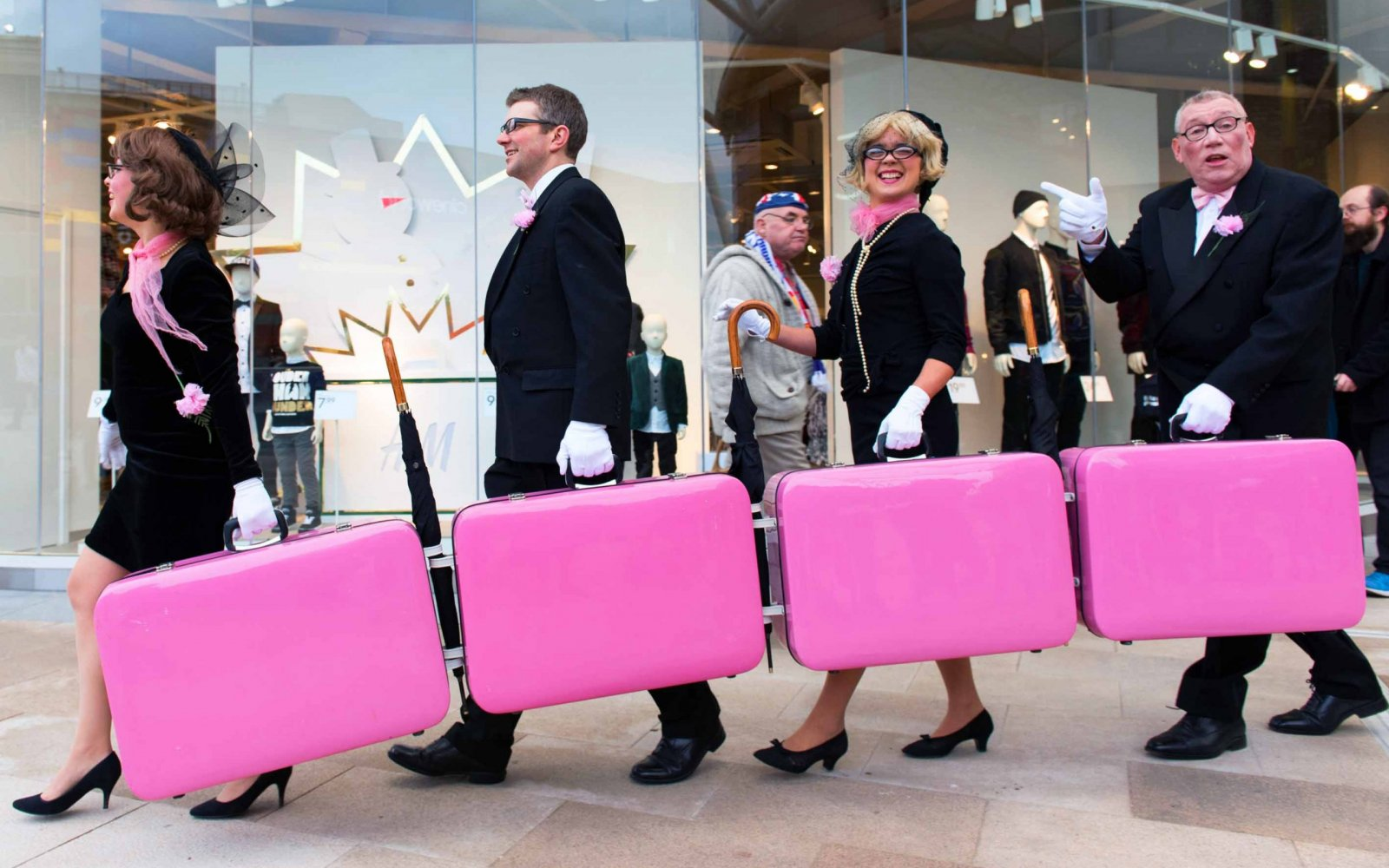 Pink Suitcases
